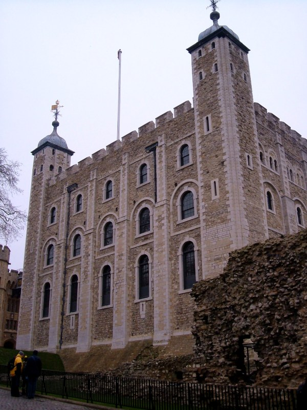 The White Tower inside the Tower of London