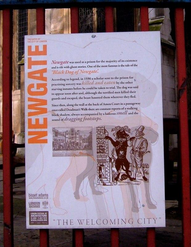 Newgate Prison and the Black Dog which is heard in Amen Court