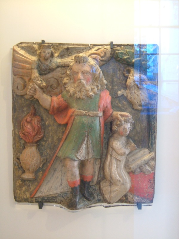 Painted and carved 16th century panel from the old Priory