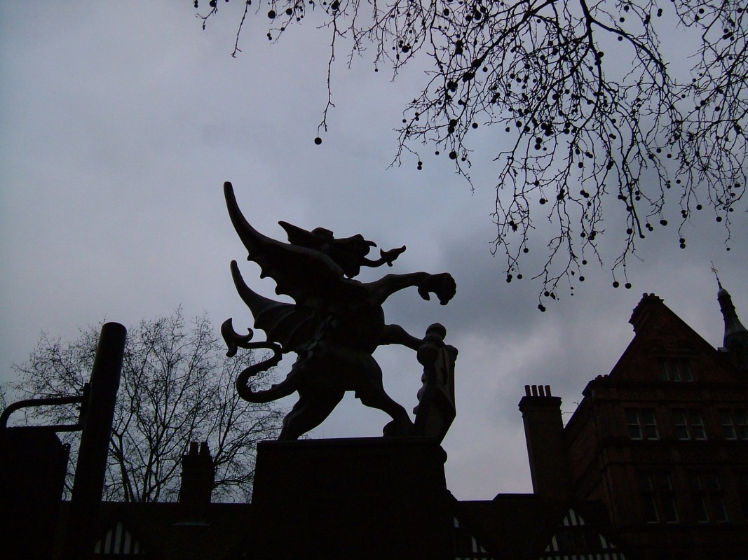 One of two gryphons at Staple Inn, on Holborn