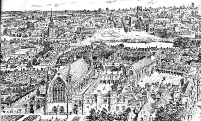 Ely Place in the 15th C