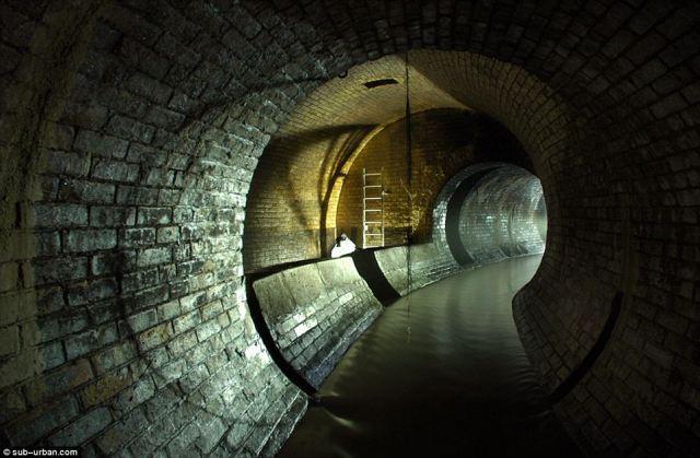 The Fleet River, canalised underground