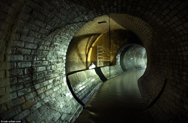 The Fleet River, canalised underground