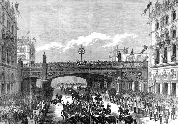 Holborn Viaduct, 1869