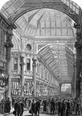 Leadenhall Market in Victorian times