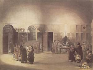 MaryLeBone Watch house with men preparing to go out