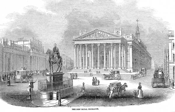 The Royal Exchange in 1844