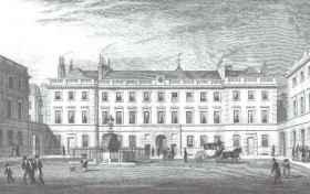 St Bartholomew's courtyard, early 1800s