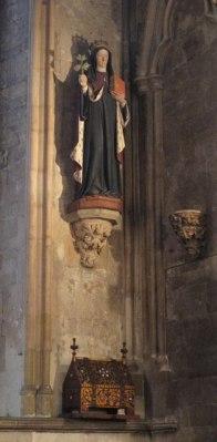 St Etheldreda and relic casket