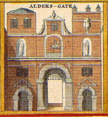 The Aldersgate in c.1600