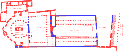 Floor plan of the Church of the Holy Sepulchre in the C4