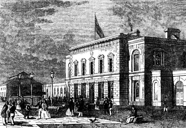 The Steam Packet Wharf at Brunswick Wharf 1840
