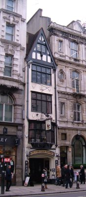 The Cock Tavern in Fleet Street