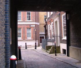Archway entry to Gough Square
