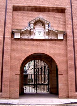 The gates leading to the synagogue