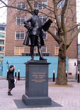 John Wilks' statue in Fetter Lane