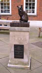 Hodge, Samuel Johnson's cat, in Gough Square
