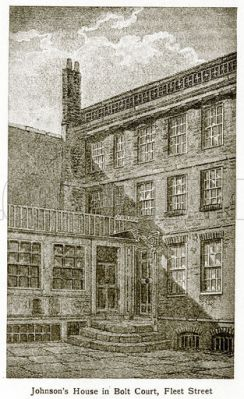 Samuel Johnson's house in Bolt Court