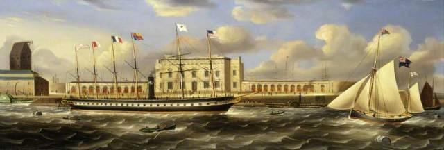 SS Great Britain at Brunswick Wharf, mid 1800s