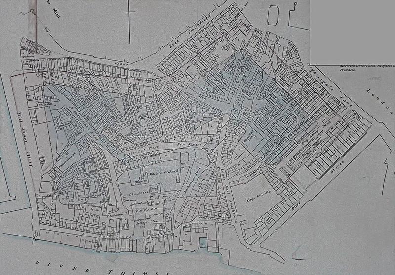 The demolition plan for St Katherine's Docks