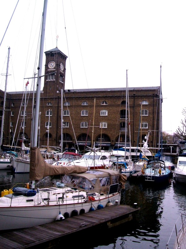 St Katherine's Dock, with Ivory House (1852) in the background