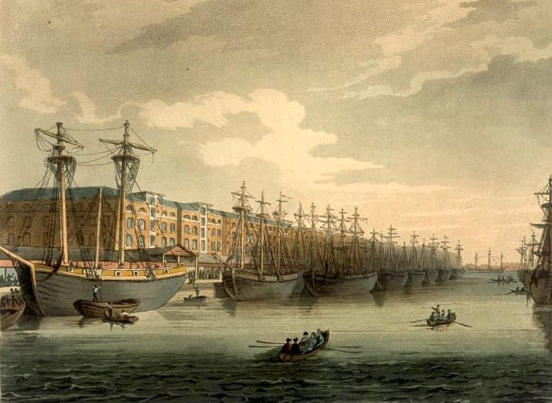 West India Docks, early 1800s