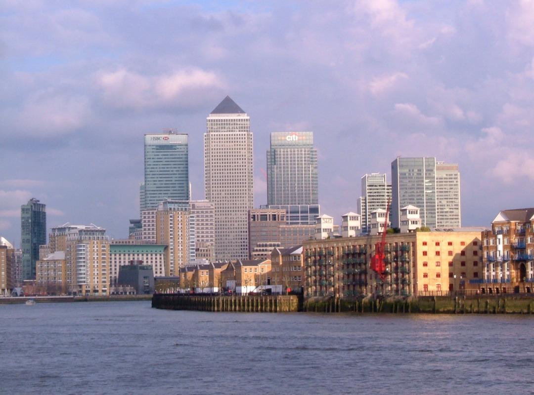 Canary Wharf and the Thames