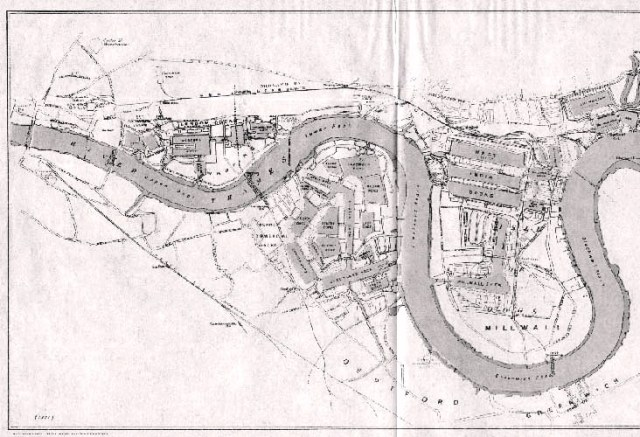 Map of the London Docks, 1921
