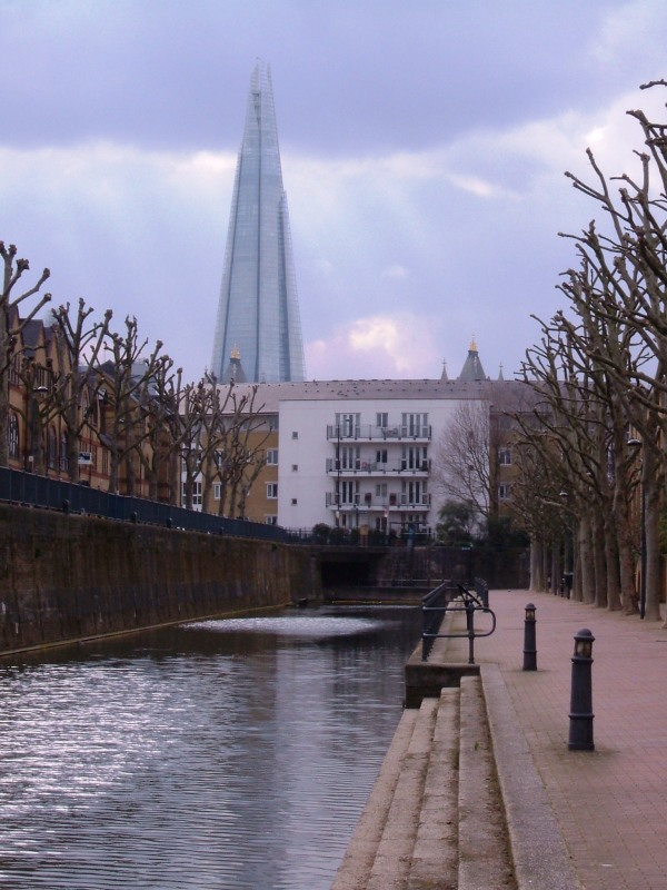 The London Docks - a strip of water retained and a quiet spot
