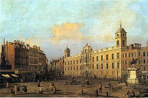 Northumberland House in 1752, by Canaletto
