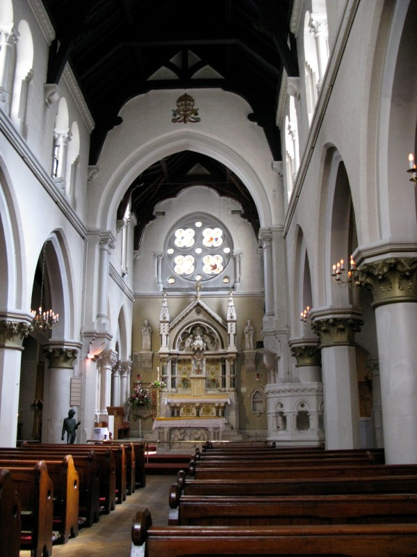 The interior of Corpus Christi Roman Catholic Church, Maiden Lane