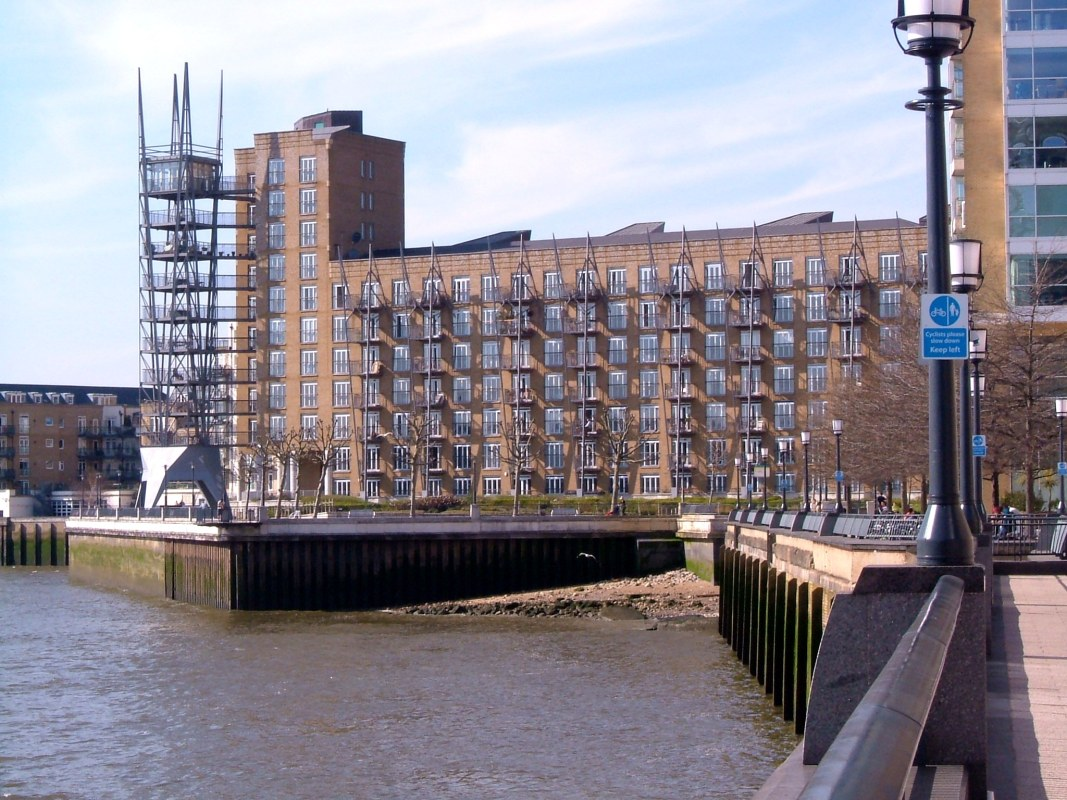 The entry from the Thames