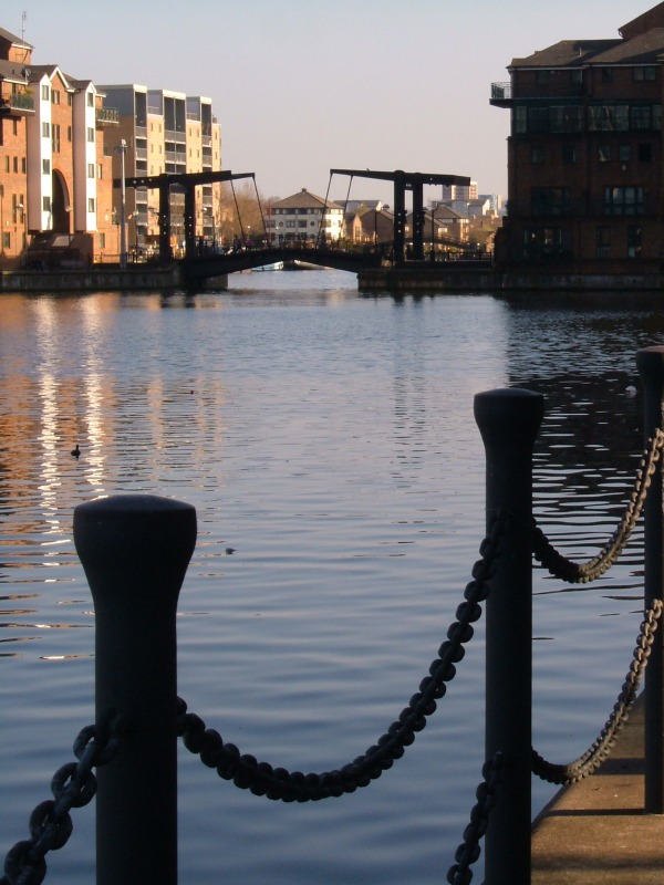 The N-S arm of the Millwall Docks