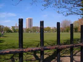Weavers' Fields, a somewhat characterless park