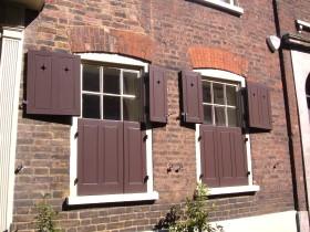 Elegant houses in Elder Street, close to Spitalfields Market