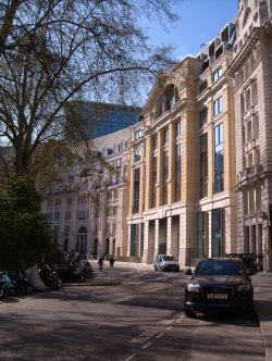 One angle of Finsbury Circus
