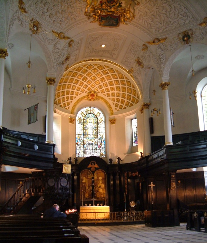 The interior of St Clement Danes