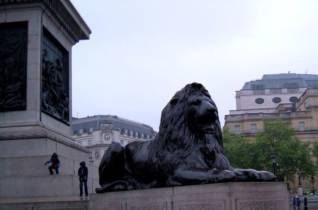 One of Sir Edwin Landseer's lions