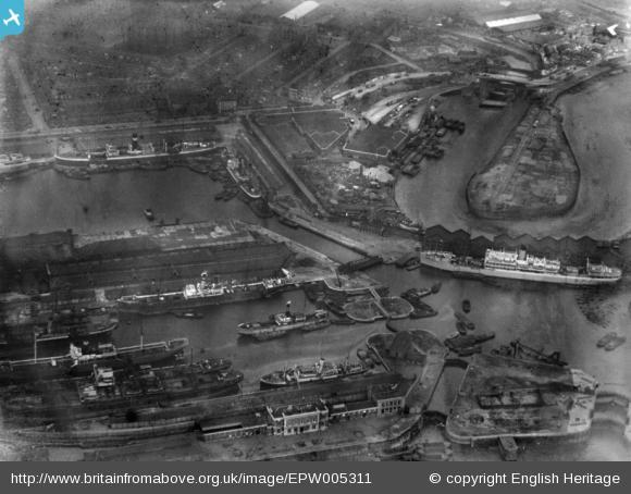 East India Docks, 1921