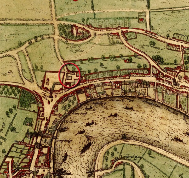 St Martin's, 1560 map