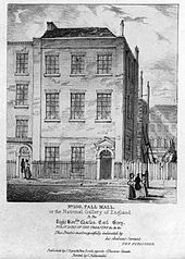 Angerstein's home, 100 Pall Mall, the first 'National Gallery'