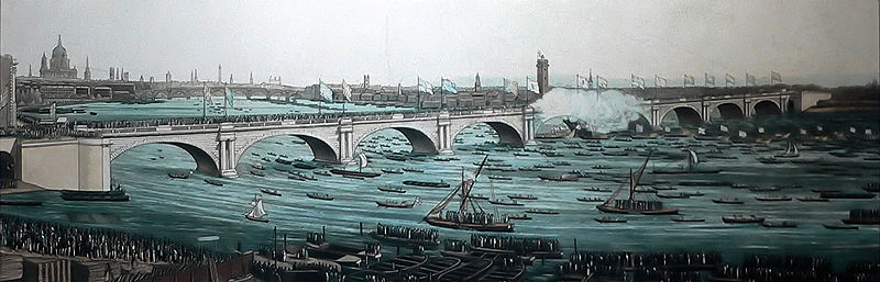 John Rennie's Waterloo Bridge in 1817