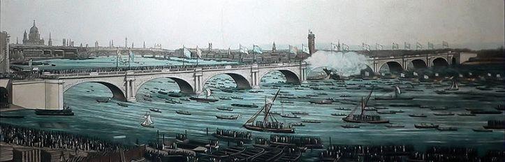 John Rennie's Waterloo Bridge in 1817