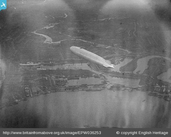 Zeppelin over the East India Docks