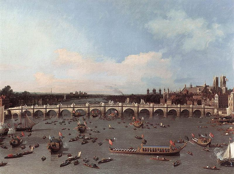 Westminster Bridge on Lord Mayor's Day, Canaletto, 1746