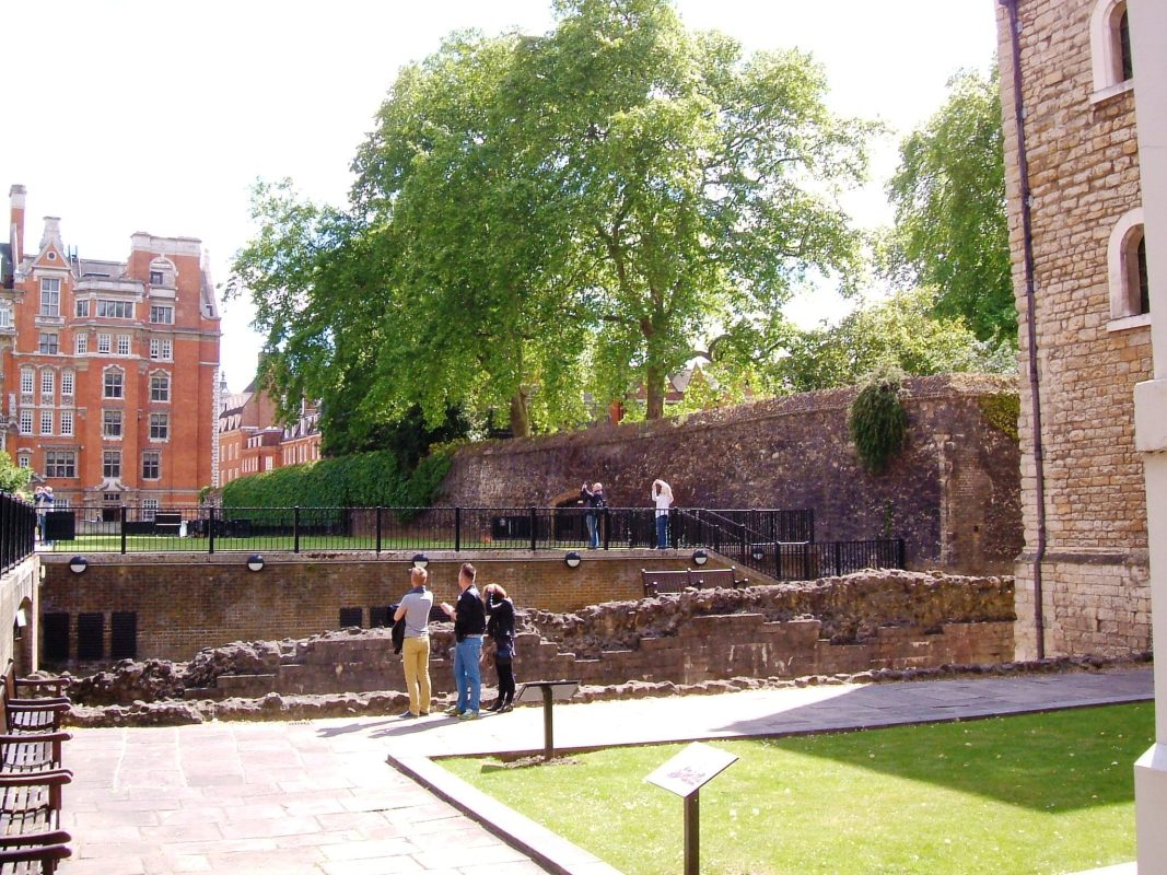 The wall at the Jewel Tower