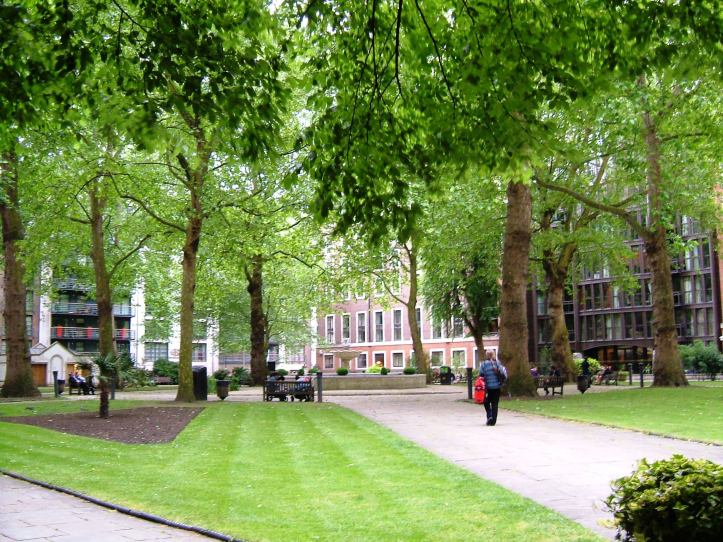 The burial ground for St John's, Smith Square