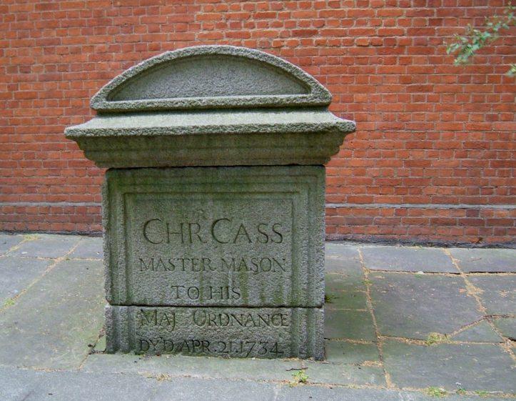 Memorial in St John's burial ground