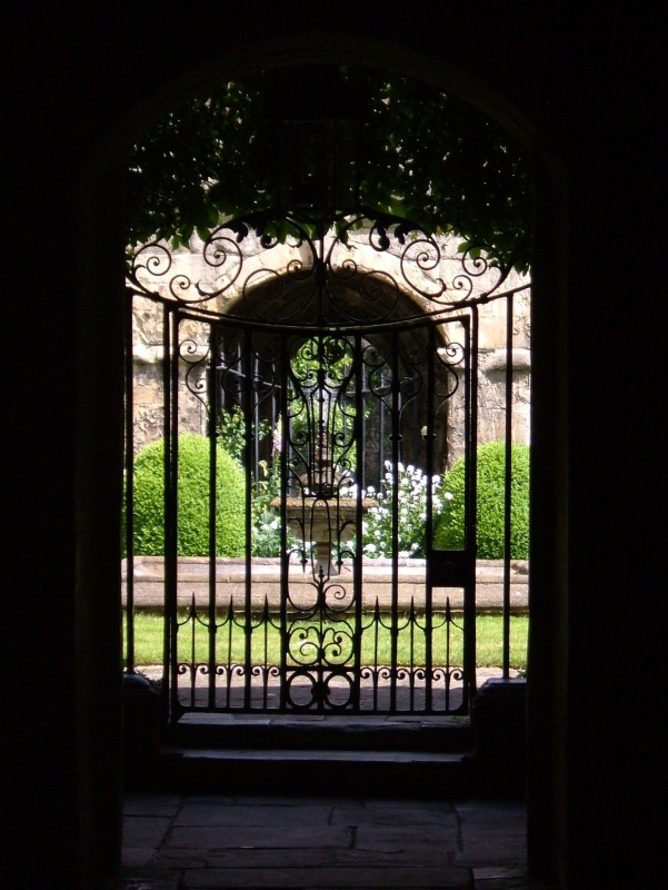 The gate into the Little Cloister, Westminster Abbey