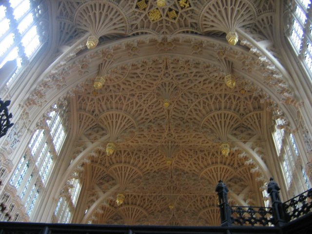 The celing of the Edward VII Chapel, Westminster Abbey